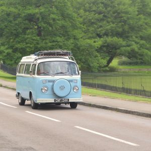 Explore in a blue VW camper van and the #vanlife hashtag on instagram.