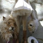 Lion and Bunny Heads for art doll by ValeriaDalmon on Etsy.