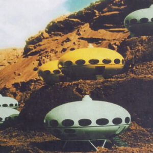 The Futuro Home Flying Saucer ski lodge of the 1960s.