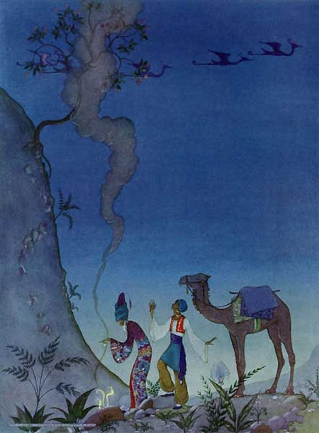 Illustration by Virginia Frances Sterrett from Arabian Nights.