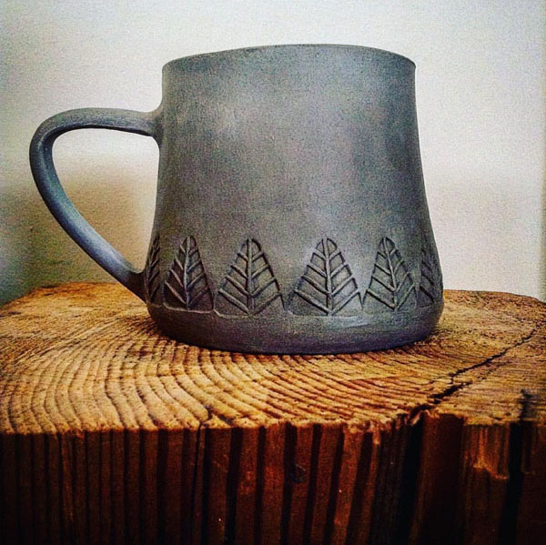 Little Trees Mug by Braidmadebarefoot on Instagram
