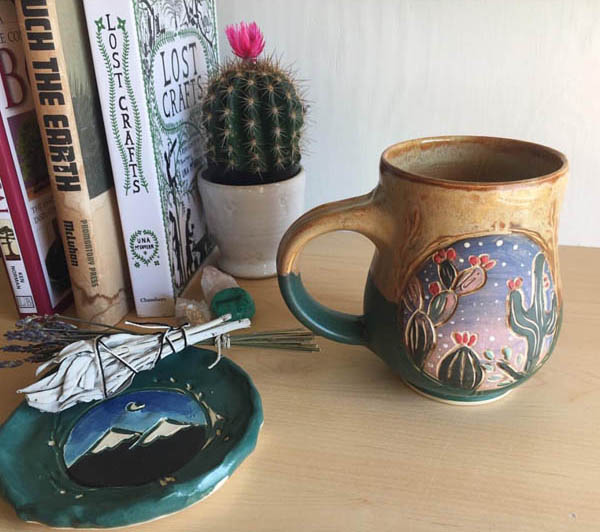 Cactus Mug by pitchpinepottery on Instagram