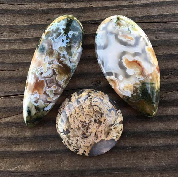 Nicole of Arrok Metal Studio loves to work with unusual stones, her favorite being moss agate.
