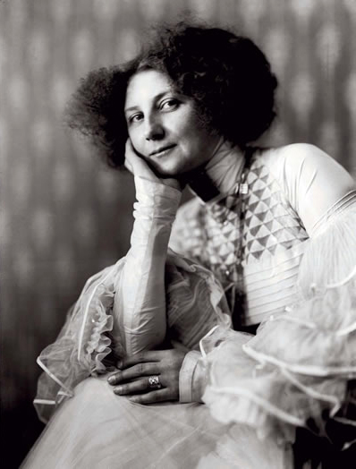 Emilie Flöge was a lifelong companion of Gustav Klimt and a haute couture fashion designer.