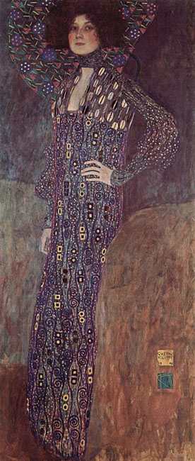 Portrait painting of Emilie Flöge by Gustav Klimt