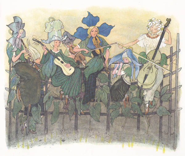 Illustration from The Dream Garden, Illustrated by Ernst Kreidolf