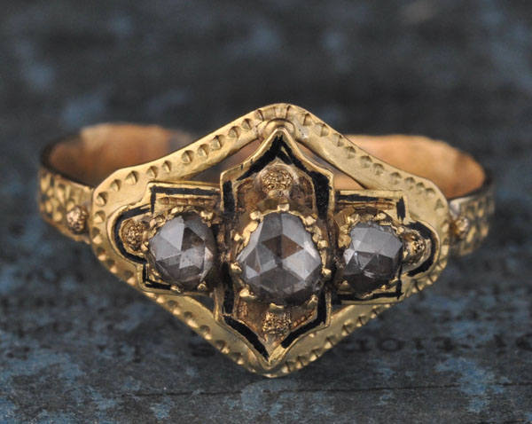 Spanish Victorian Diamond Ring offered by EngagedWithDiamonds on Etsy