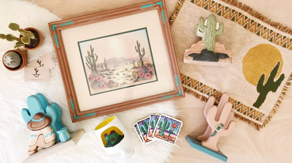 Shop Taprut specializes in vintage housewares with a Modern Southwest aesthetic.