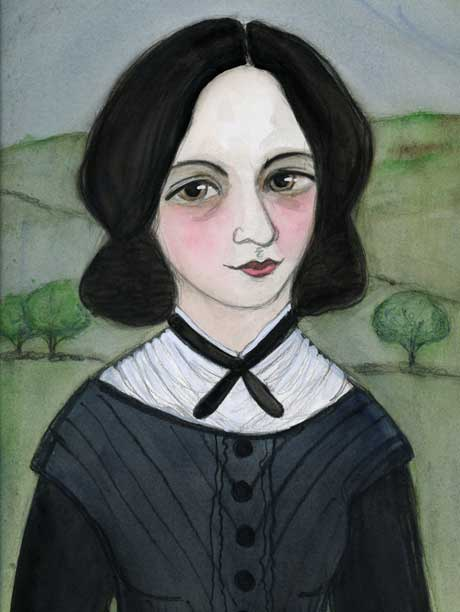Emily Brontë Art Print offered by bluehourstudio on Etsy.