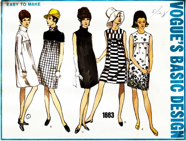 Vogue's Basic Design 1883 dress pattern offered by harmonycollectibles on Etsy.