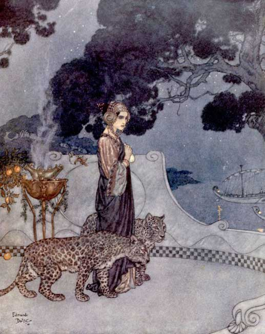 Circe the Enchantress by Edmund Dulac for L'Illustration magazine, 1911