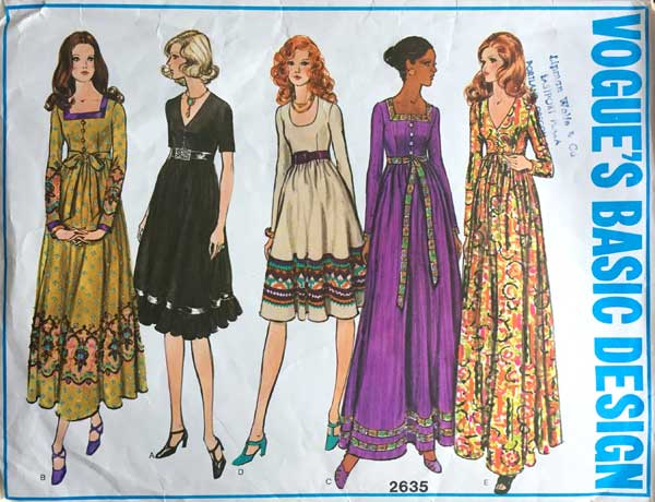 Vogue's Basic Design 2635 vintage dress pattern offered by backroomfinds on Etsy.