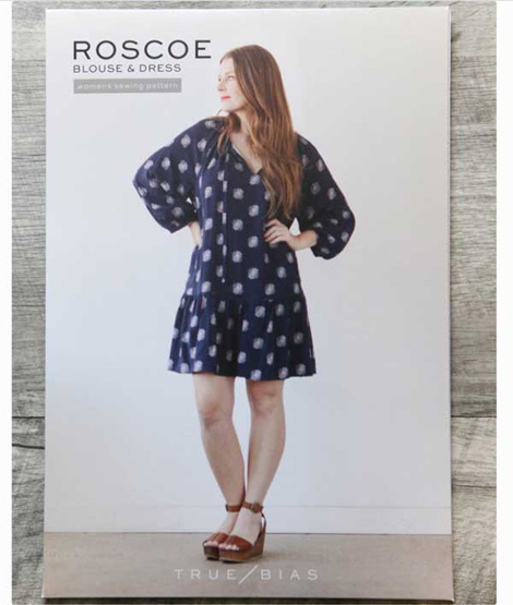 The Roscoe Dress by Kelli Ward of True Bias. Read an interview with Kelli on differentdrum.blog.
