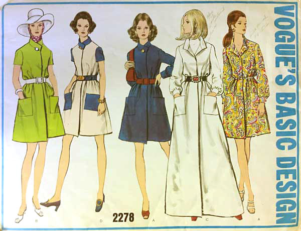 Vogue's Basic Design 2278 vintage dress pattern offered by ThePatternParlor on Etsy.