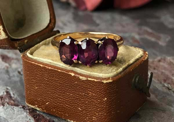 Symbols: Vintage and Antique Garnet Sentimental Love Rings
