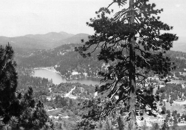 Vintage postcard of Lake Gregory in Crestline, CA. Read about things to do in Crestline, CA at Different Drum!